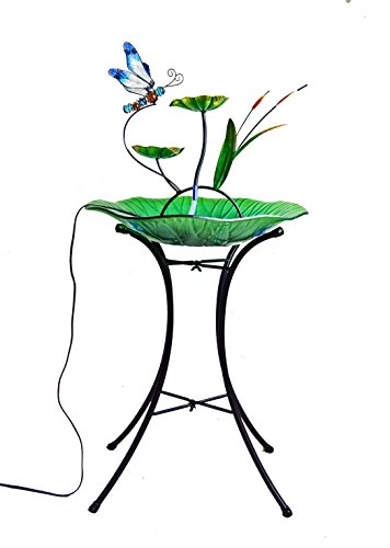 Continental Art Center Dragonfly Fountain, Includes 18-In...