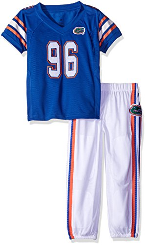 NCAA Florida Gators Boys Toddler/Junior Football Uniform Pajamas , Size 3T, Royal/White - Florida Gators Uniforms