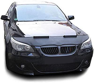 Tief Tech Bonnet Hood Bra for 5-Serie E60 // E61 Stoneguard Stone impact protection Engine Hoodcover Black