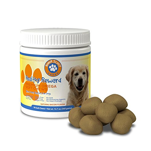 Premium Omega 3 Chew Treats For Dogs   All Natural Fish Oil For Dogs   Best Skin & Coat Support to Reduce Shedding...