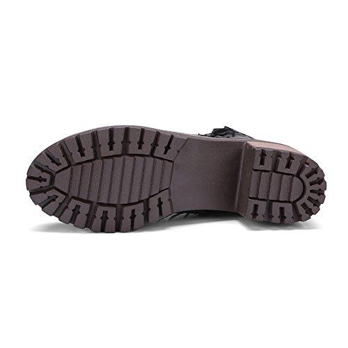 BalaMasa Womens Casual Slip-Resistant Urethane Boots ABL10340 Black 6BPsG2