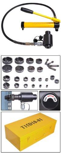 15 ton Hydraulic Metal Hole Puncher Hole-driver Kit Tool Set
