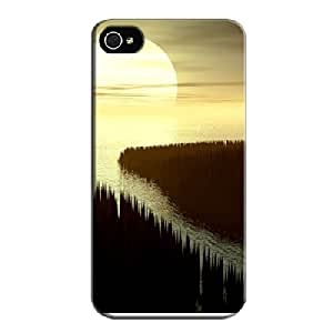 Black Behind The Water For Iphone 4s Case Cover