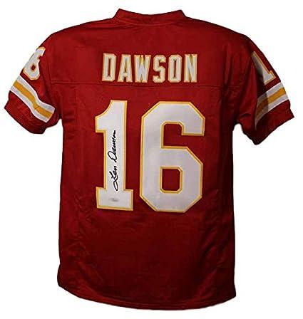 46436da10 Len Dawson Autographed Signed Kansas City Chiefs Red XL Jersey JSA ...