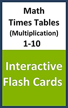 Math times tables multiplication 1 10 interactive flash cards math flash cards book 5 - Multiplication table interactive ...