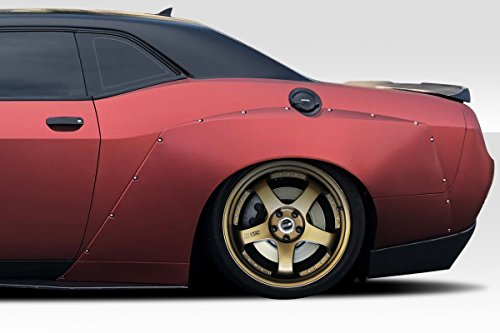 Duraflex ED-OXJ-982 Circuit Rear Fenders - 4 Piece Body Kit - Compatible For Dodge Challenger 2008-2018