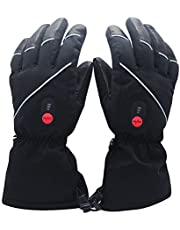 Savior Heated Gloves for Men Women, Rechargeable Electric Heated Gloves, Heated Skiing Gloves and Snowboarding Gloves for Hunting Camping Motorcycle
