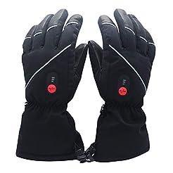 Savior Heated Gloves for Men Women, Elec...