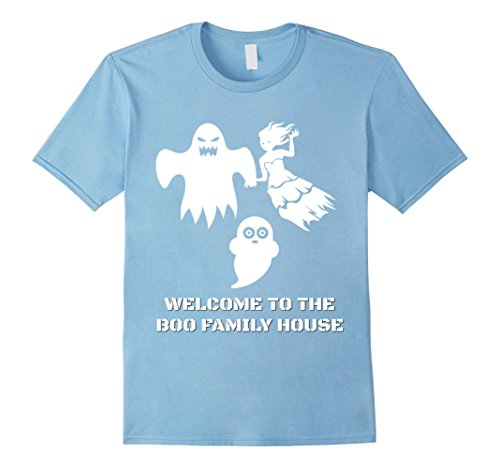 Mens Family Cute Scary Halloween costumes boo ghost T-shirt 2XL Baby Blue (Weird Couples Costumes Halloween)