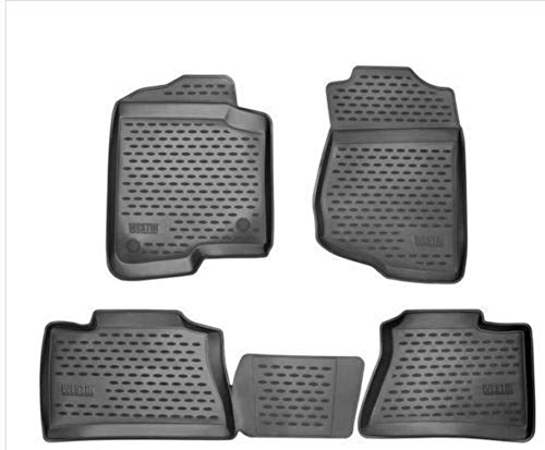 Novline 48.45.210 Floor Mats Liners fits 2008-2015 Toyota Hilux Black