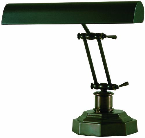 House of Troy P14-203-81 12-1/2-Inch Portable Desk/Piano Lamp Mahogany - 14' Desk Piano Lamp