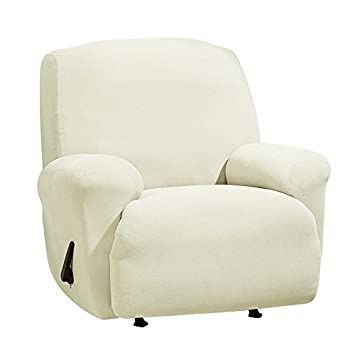 Sure Fit Stretch Morgan 1-Piece - Recliner Slipcover - Ivory (SF45354)  sc 1 st  Amazon.com : recliner slipcover - islam-shia.org