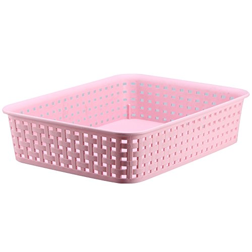 FaSoLa Plastic Storage Basket (Pink, M)