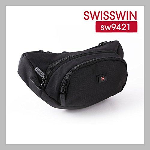 b49f45d3839b Amazon   SWISSWIN ウエストバッグ 斜め掛けもOK!旅行やランニングにも ...
