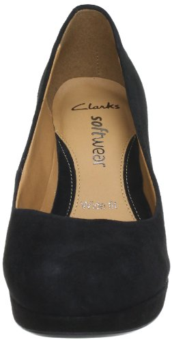 Strap Pumps Ankle Kendra Anika Black Clarks Women's Sde Black pOqgT