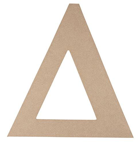 Wooden Greek Letter - Unfinished Wood Letter Delta, Paintable Greek Font for DIY, Home, College, Sorority, Fraternity Decoration, 11 x 11.56 x 0.25 - Symbols Letters Greek