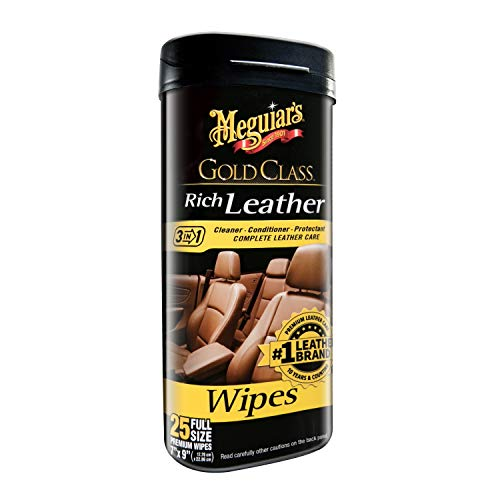 Meguiar's G10900 Gold Class Rich Leather, 25 Wipes