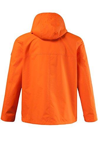 JP 1880 Herren große Größen bis 5 XL | Funktions-Jacke in orange & blau | Outdoorjacke winddicht, wasserabweisend & atmungsaktiv | Reißverschluss, Kapuze & 3 Taschen | orange L 702305 65-L