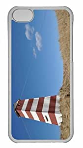 Customized iphone 5C PC Transparent Case - The Lighthouse Personalized Cover
