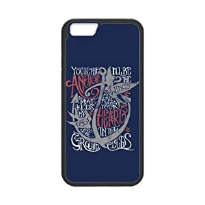 Classic Style Custom Silicone Hard Rubber Case for iPhone6(4.7inch) - Anchor Quotes
