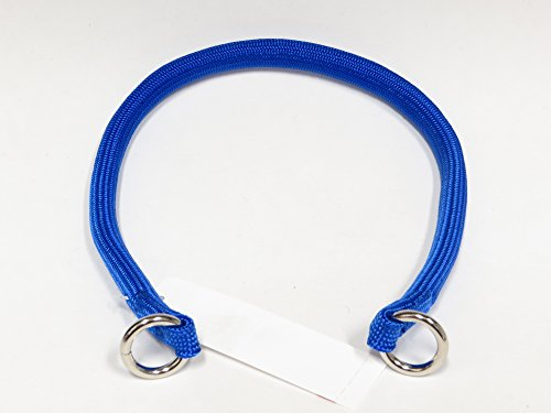 Coastal Pet Products Round Nylon Blue Choke Collar for Dogs, 3/8 By 22-inch