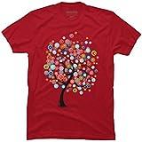Design By Humans Dreams' Tree Men's 2X-Large Cardinal Graphic T Shirt