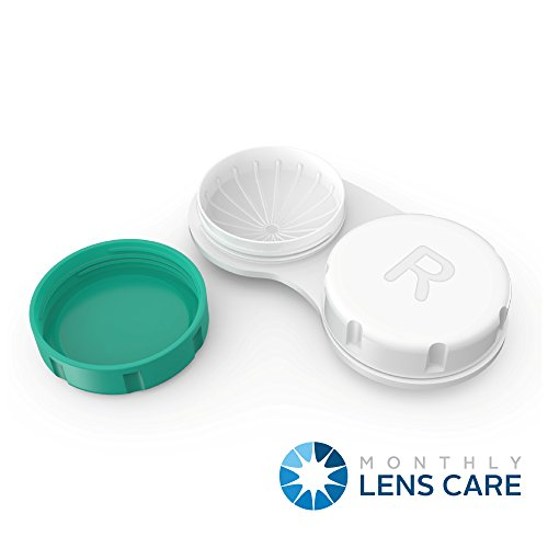 Contact Lens Cases 12 Pack. One Year Bulk Supply. Tweezers and Applicator Set Included. Protect Your Eyes by Changing Your Lens Case Monthly