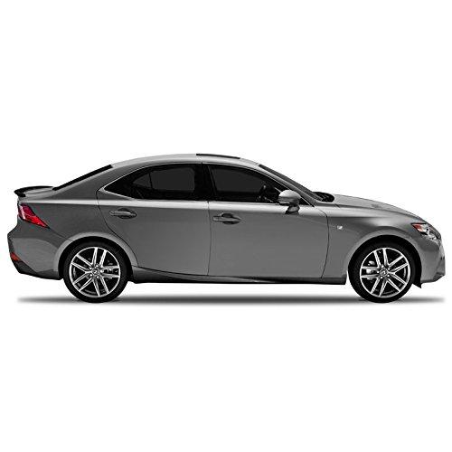 Mount Custom Style Spoiler (IS14-FM Custom Style Flush Mount Spoiler for Lexus IS - BLACK ONYX (202))