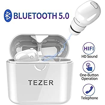 c05b6f24cbe Timemaker True Wireless Bluetooth Earbuds, Mini Bluetooth Earphones Latest  Bluetooth 5.0 Headphone Built in Microphone & Dual Speakers with 8 Hours  Talking ...