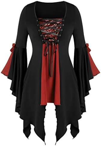 Halloween Skirts for Women Plus Size Gothic Criss Cross Sequin Insert Butterfly Sleeve T-Shirt Tops Dresses
