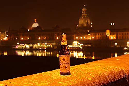 Home Comforts Radeberger Beer Radeberger at Night Dresden Night Vivid Imagery Laminated Poster Print 24 x 36 (Radeberger Beer)