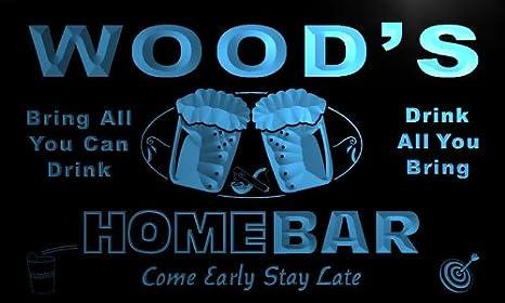p1078-b madera de casa de familia de cerveza letrero ...