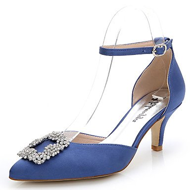 Heels Casual Fall UK6 D'Orsay Women'S CN40 5 Evening Wedding Party Summer Two amp;Amp; Heelrhinestone Outdoor Silk amp;Amp; US8 EU39 amp;Amp; Career Zormey Office Dress Piece 5 Stiletto 5qSUtWt