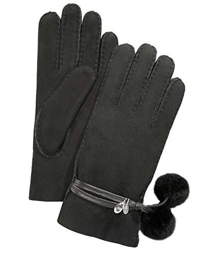 UGG Sheepskin Brita Glove Women | Black (16133) (M) by UGG