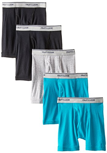 Fruit of the Loom Little Boys' Boxer Brief, Assorted, 2T/3T