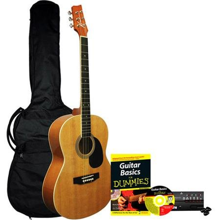Acoustic Guitar for Dummies Bundle: Kona Acoustic Guitar, Accessories, Instructional Book & CD by Unknown