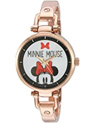 Disney Minnie Mouse Womens Rosegold Alloy Bridle Watch, Rosegold Alloy Bracelet, W002820