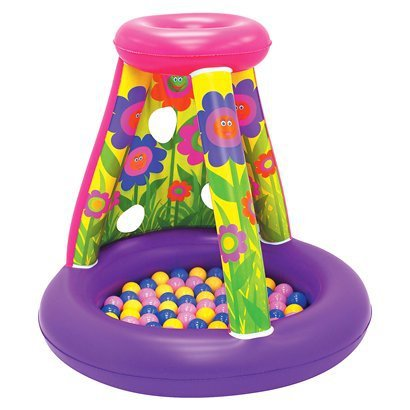 UPC 614239052787, Little Moose Mountain Flower Playland Includes 20 Soft Flex Balls & 40x37.5 Playland