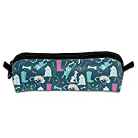 Walkies and Wellies Pencil Case Pen Bag Pouch Multipurpose Portable Stationary Case Makeup Cosmetic Bag for Boys Girls Students Men Women Adults