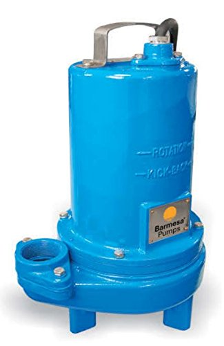 Barmesa Pumps 2BSE72SS Submersible Sewage Single Seal Non-Clog 2