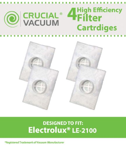 4 Allergen Filters for Electrolux and Aerus AP100 Series Vacuums; Compare to Electrolux Part No. LE-2100; Designed & Engineered by Think Crucial