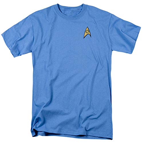 Star Trek Science Uniform Shirt w/Liquid Gold Ink (L)