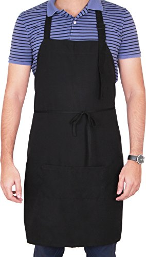 Utopia Adjustable Bib Apron with 2 Pockets Co...