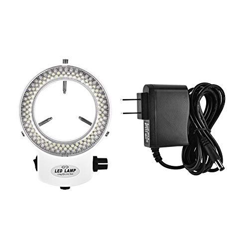 LED Ring Light 144 LED Beads Brightness Adjustable Ring Lamp Light Source for Stereo Microscope Camera(#02)