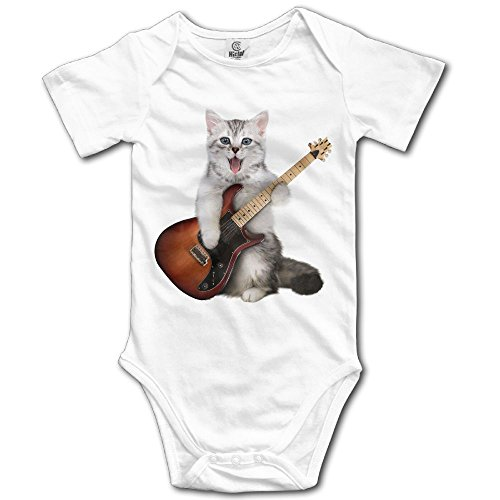 HELLOWI Guitar Cat Cotton Baby Bodysuit Baby Boys Onesie Outfit