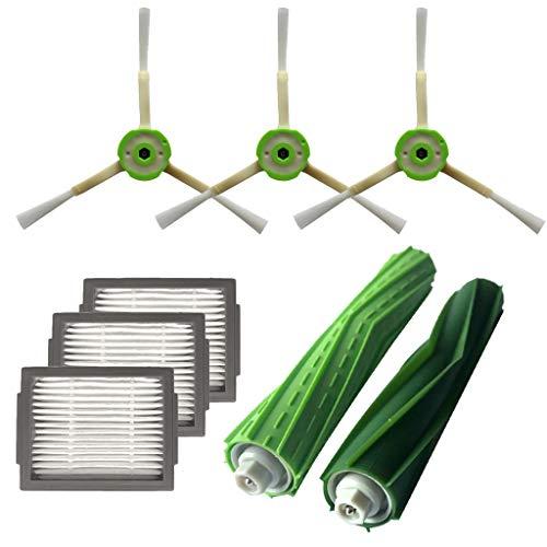 Price comparison product image Iusun Side Brush&Hepa Filters&Bristle Brush Series Kits Replacement Accessories Parts for iRobot Roomba i7 i7+ / i7 Plus E5 E6 E7 Vacuum Cleaner Set (E-Side Brush&Hepa Filters&Bristle Brush)