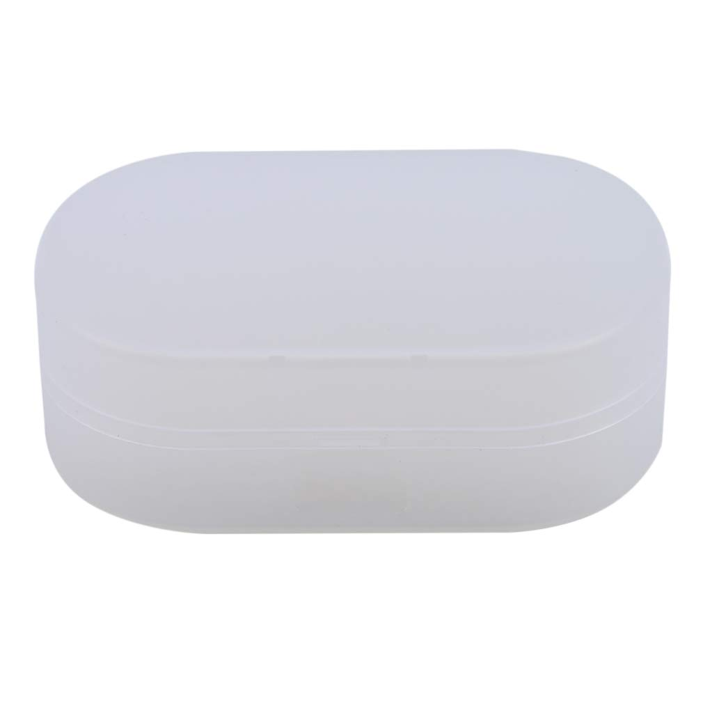 SOURBAN Soap Holder with Cover Pp White Soap Savers Case Container Home Outdoor Hiking Camping Gym