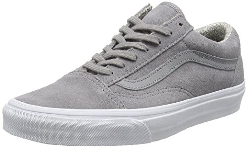 Old suede woven Adulte White Chaussures Gris Basses Vans Skool U true Gray Mixte RzO51w8q