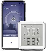Sensor de umidade de temperatura inteligente Wi-Fi compatível com Alexa 230 pés Higrômetro digital sem fio de