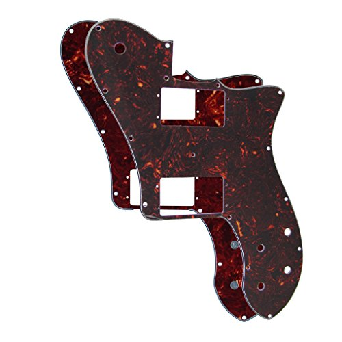 (IKN 2pcs 14 Holes TL 72 RI Re-issue Pickguard for Mexico 72 Reissue/RI Tele Style Deluxe Style Guitar,Mixed Color )